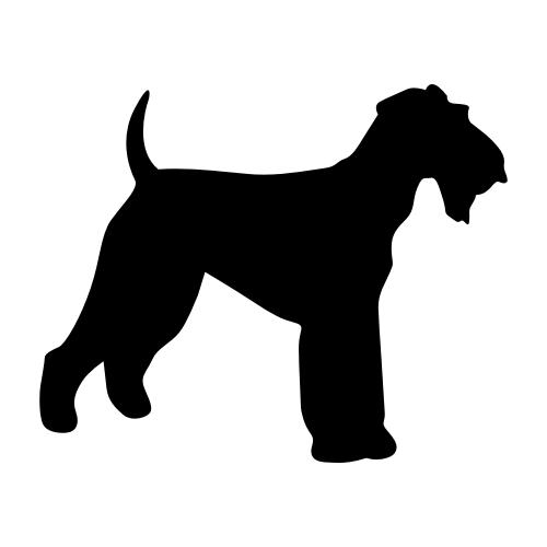 Airedale Terrier Bügelbilder