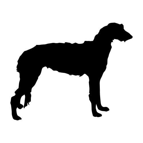 Deerhound Wandtattoos