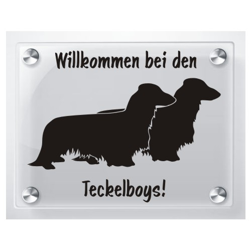 Hundeschild Acrylglas