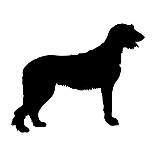 Irish Wolfhound Wandtattoos