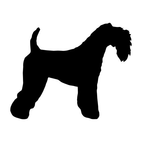 Kerry Blue Terrier Aufkleber