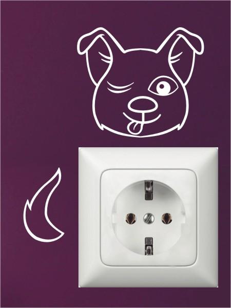 Lichtschalter & Steckdosen Hunde-Wandtattoos