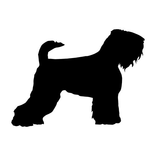 Schwarzer Terrier Aufkleber
