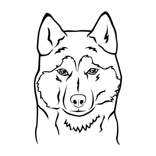 Siberian Husky Aufkleber
