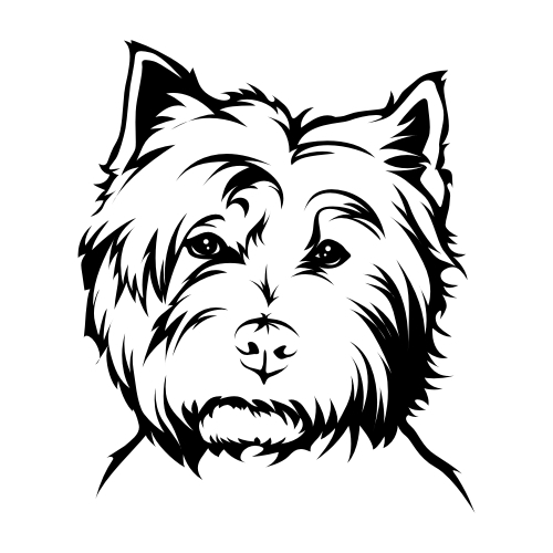 West Highland Terrier Aufkleber