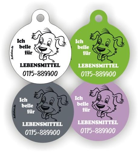 Hundemarken mit Wunschname lustig von Anfalas.de