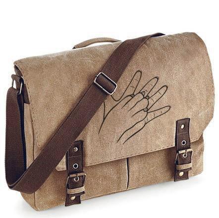 Canvas Messenger-Tasche  mit Hunde-Motiv von Anfalas.de