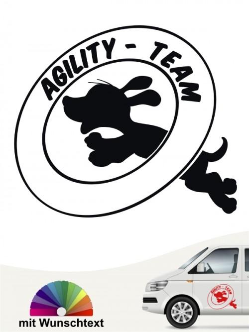 Agility Team Heckscheibenaufkleber von anfalas.de