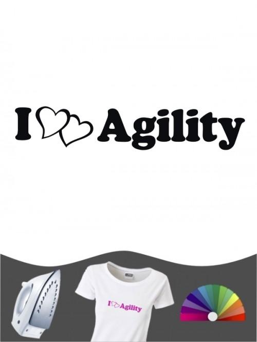 Hunde-Bügelbild Agility 2 von Anfalas.de