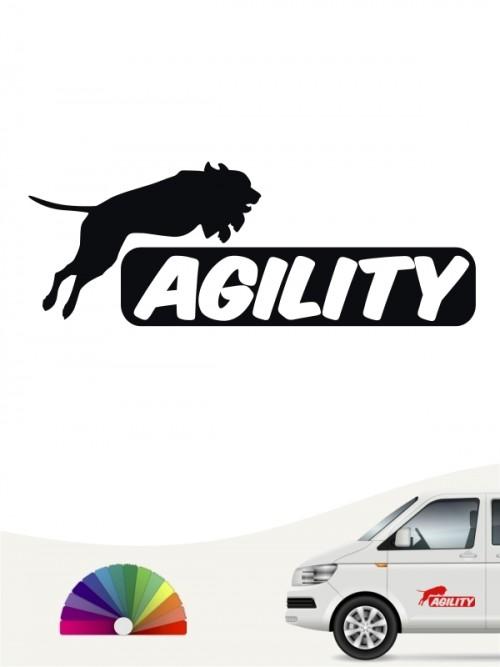 Agility Heckscheibenaufkleber by anfalas.de