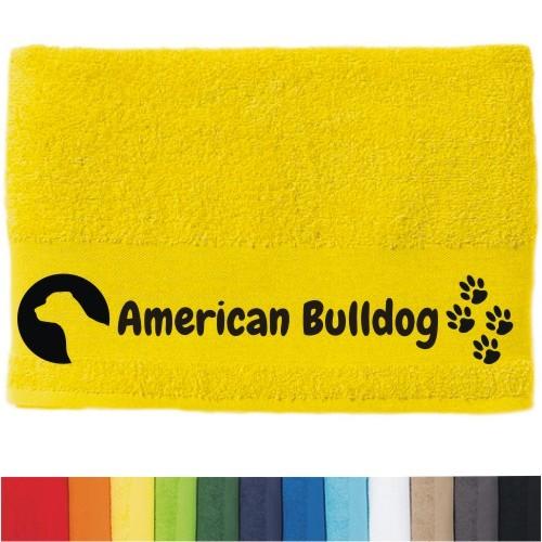 """DOG - Handtuch """"American Bulldog"""" von anfalas.de"""