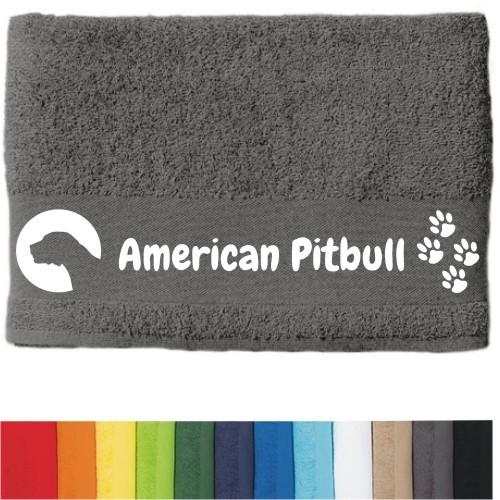 """DOG - Handtuch """"American Pitbull"""" von anfalas.de"""