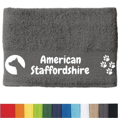 """DOG - Handtuch """"American Staffordshire"""" von anfalas.de"""