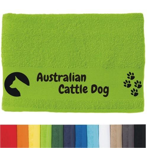 """DOG - Handtuch """"Australian Cattle Dog"""" von anfalas.de"""