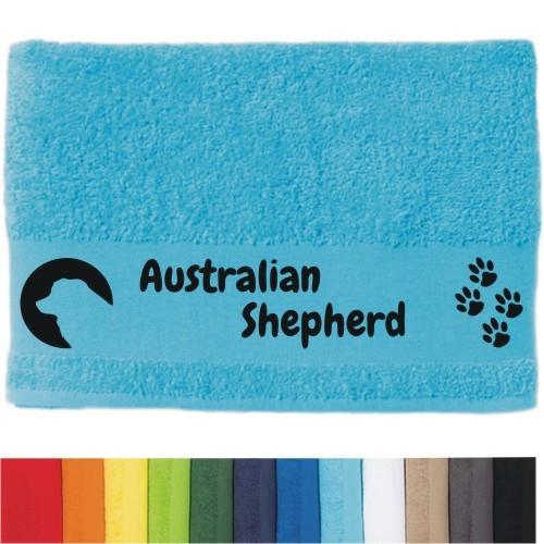 """DOG - Handtuch """"Australian Shepherd"""" von anfalas.de"""