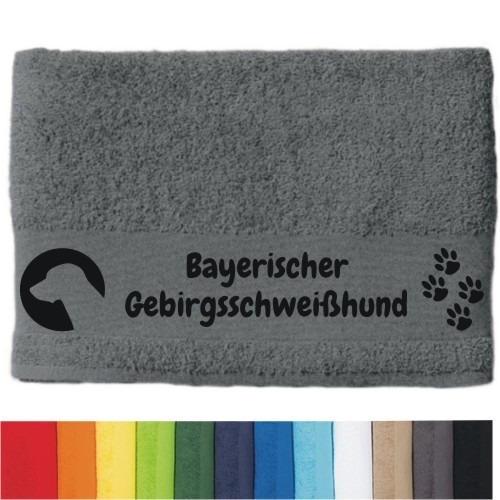 """DOG - Handtuch """"Bayerischer Gebirgsschweißhund"""" von anfalas.de"""