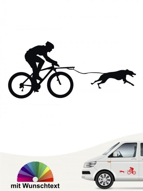 Bikejöring Heckscheibenaufkleber fürs Auto von anfalas.de