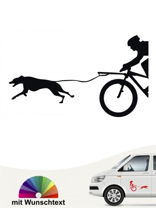 Bikejöring Autoaufkleber selbst gestalten von anfalas.de