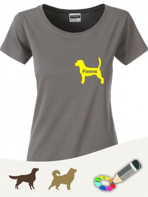 Damen Bio V-Shirt für Hundefreunde