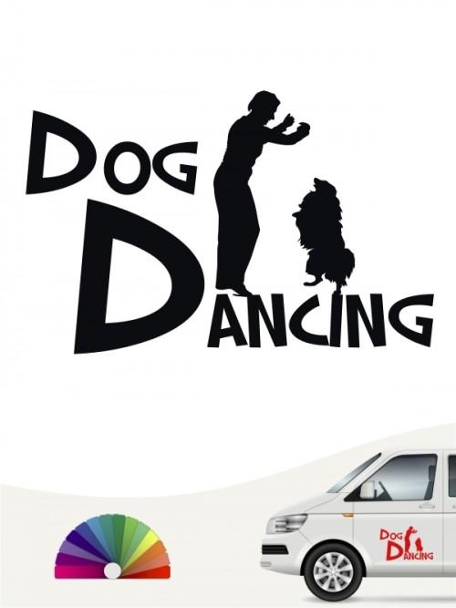 Hunde-Autoaufkleber Dog Dancing 20 von Anfalas.de