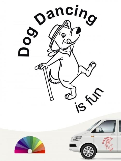 Dog Dance is fun Autosticker von anfalas.de