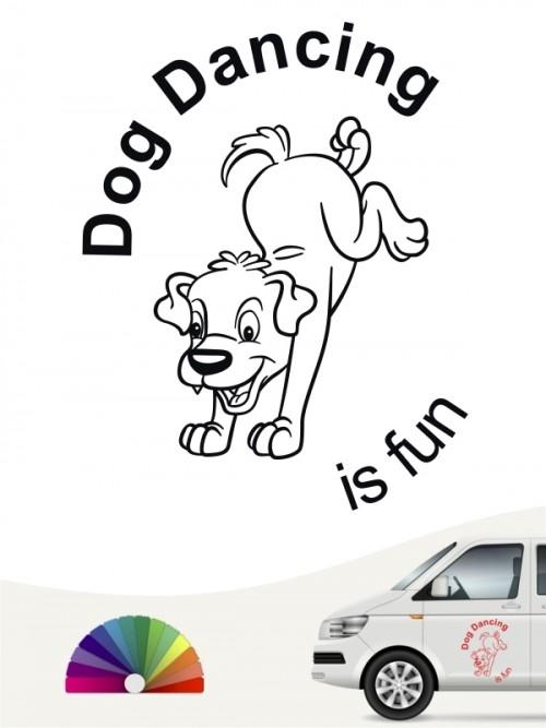 Dogdancing is fun Sticker von anfalas.de