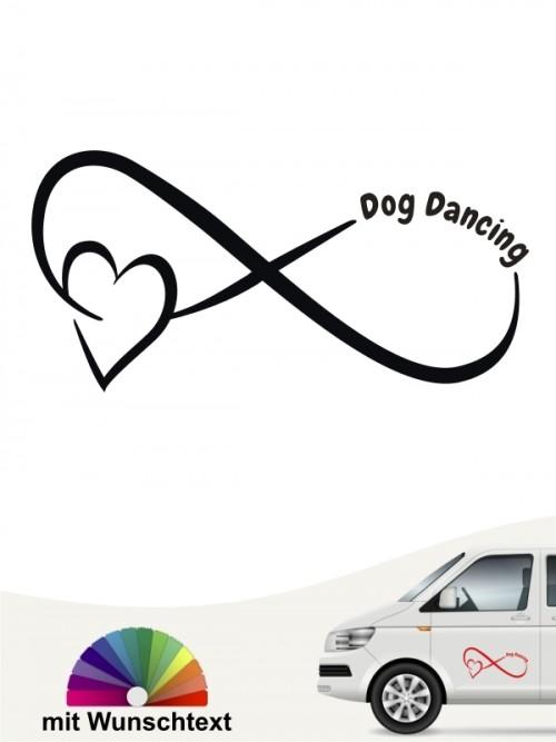 Dog Dancing Team Heckscheibenaufkleber mit Wunschtext von anfalas.de