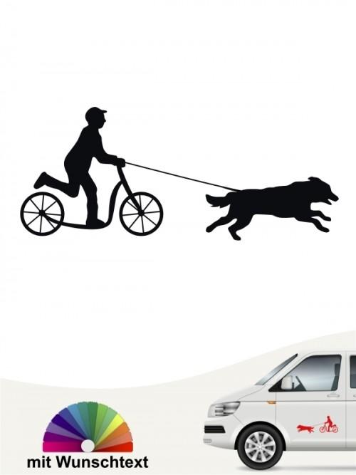 Dogscooting Heckscheibenaufkleber mit Wunschtext  von anfalas.de