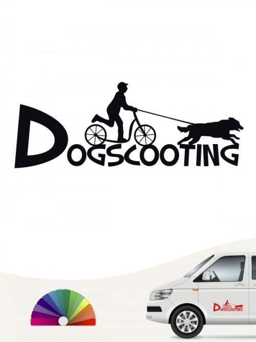 Hunde-Autoaufkleber Dogscooting 20 von Anfalas.de