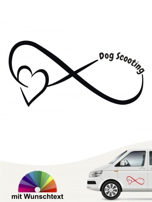 Dog Scooting Team Heckscheibenaufkleber mit Wunschtext von anfalas.de