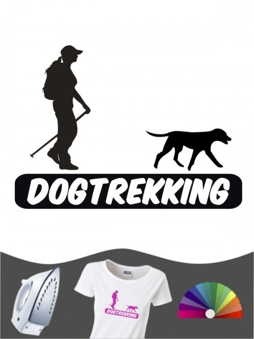 Hunde-Bügelbild Dogtrekking 3a von Anfalas.de