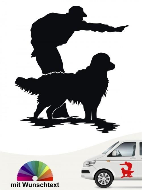 Hunde-Autoaufkleber Dummytraining 10 von Anfalas.de