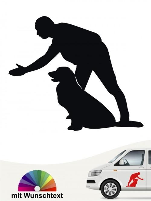 Hunde-Autoaufkleber Dummytraining 15 von Anfalas.de