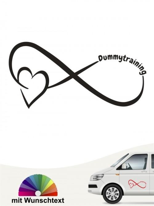 Dummytraining Team Heckscheibenaufkleber mit Wunschtext von anfalas.de