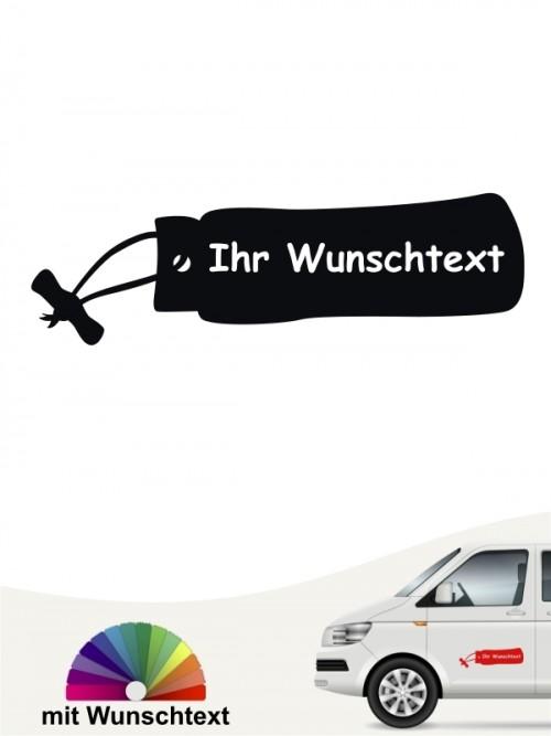 Apportierdummy mit Hundenamen Autosticker von anfalas.de