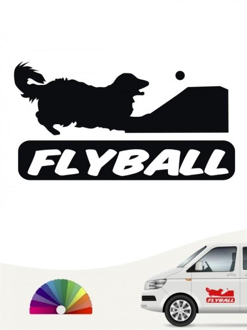 Flyball Autosticker mit Wunschtext von anfalas.de