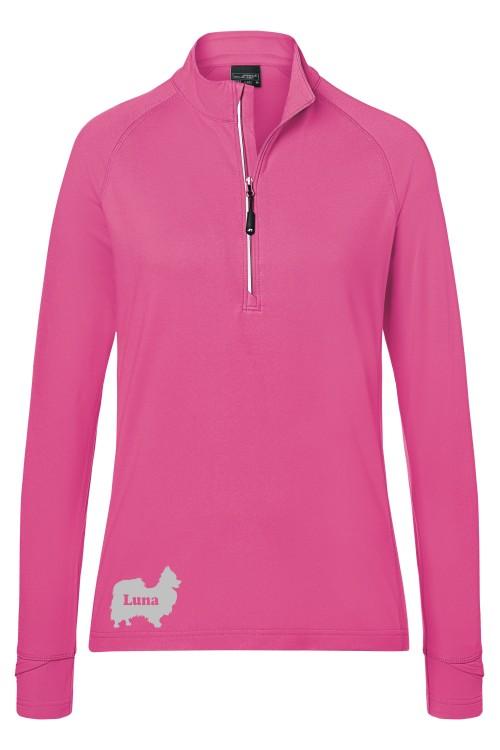 Damen Sport Langarm Shirt mit Wunschmotiv von Anfalas.de
