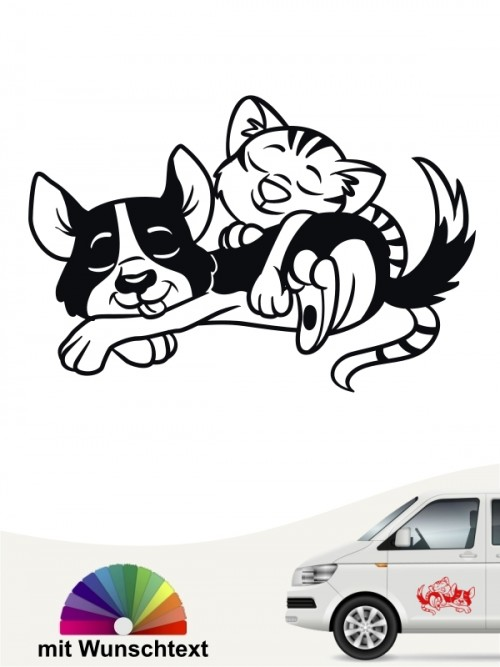 Hunde-Autoaufkleber Hund & Katze 1a von Anfalas.de