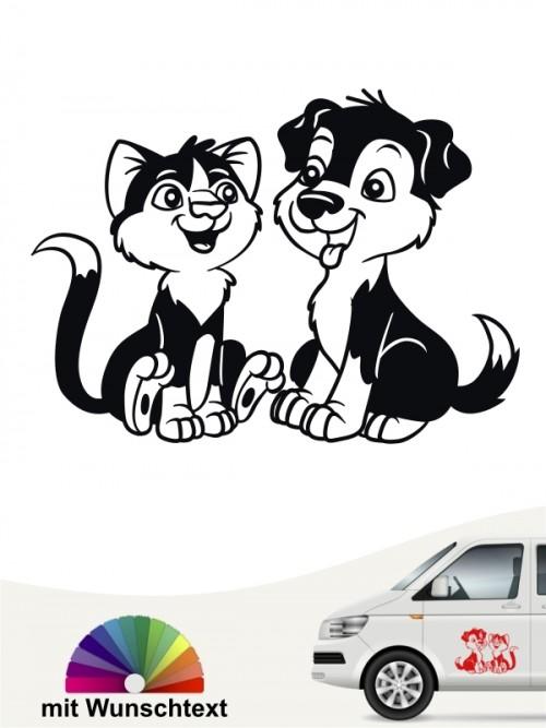 Hunde-Autoaufkleber Hund & Katze 2a von Anfalas.de
