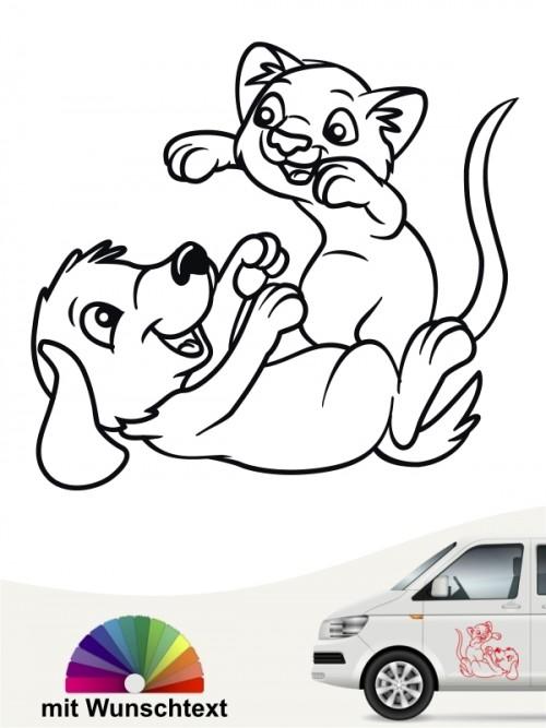 Hunde-Autoaufkleber Hund & Katze 4 von Anfalas.de