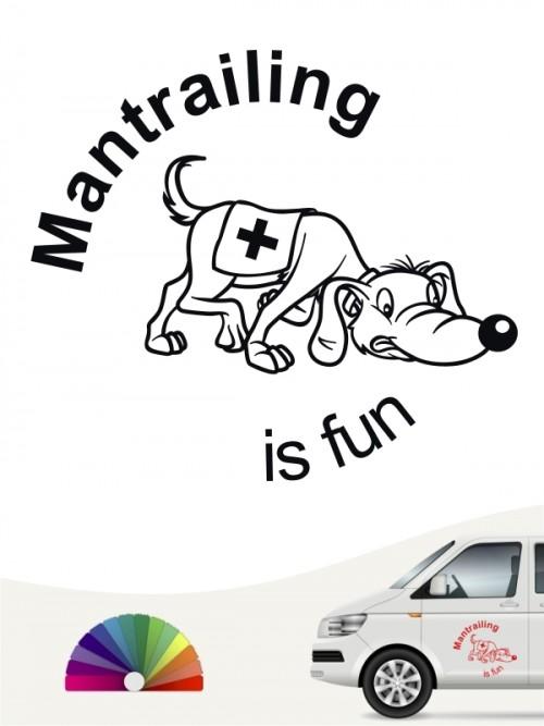 Mantrailing is fun Aufkleber von anfalas.de