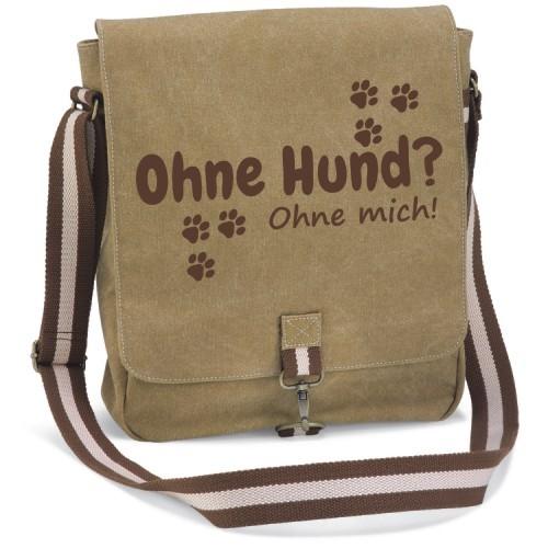 """Canvas Tasche """" Ohne Hund ohne mich"""" von anfalas.de"""
