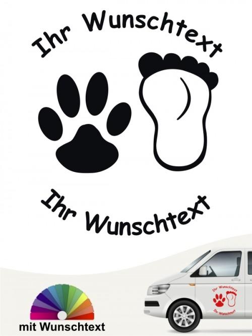 Hunde-Autoaufkleber Pfoten 27 von Anfalas.de
