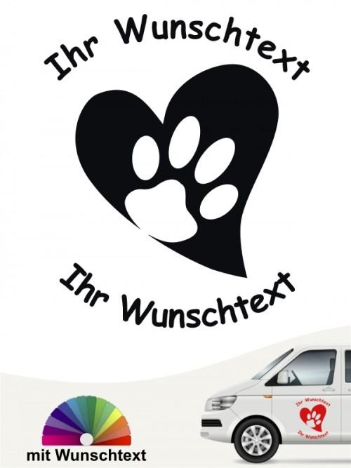 Hunde-Autoaufkleber Pfoten 45 von Anfalas.de