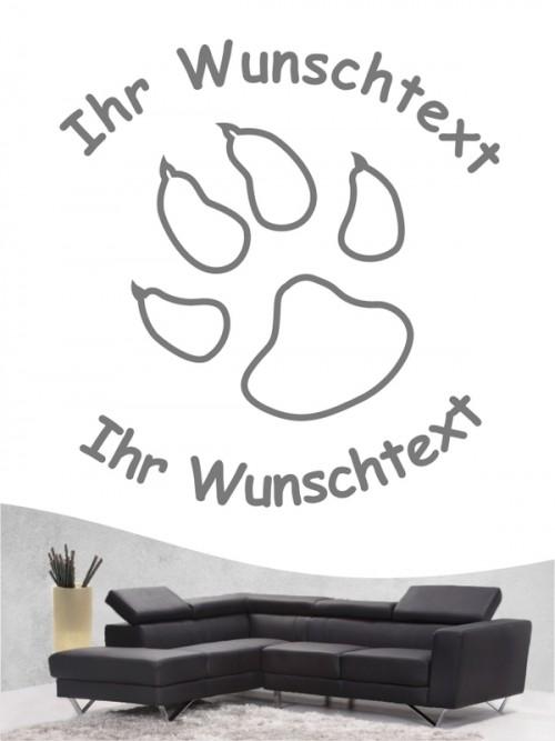 Pfoten 4 Hunde-Wandtattoo von Anfalas.de