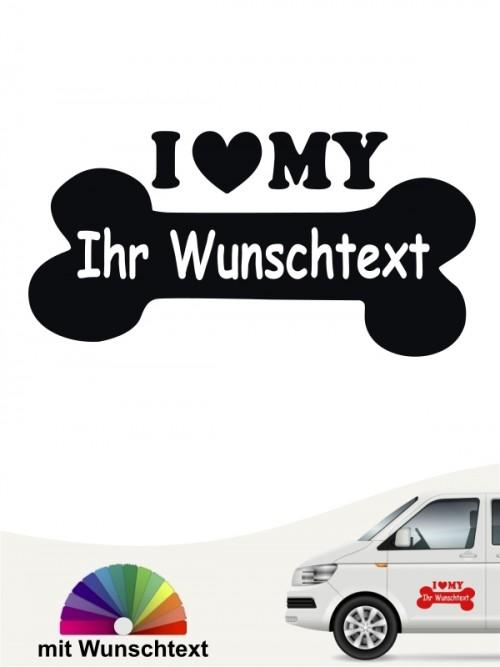 Hunde-Autoaufkleber Pfoten 54 von Anfalas.de