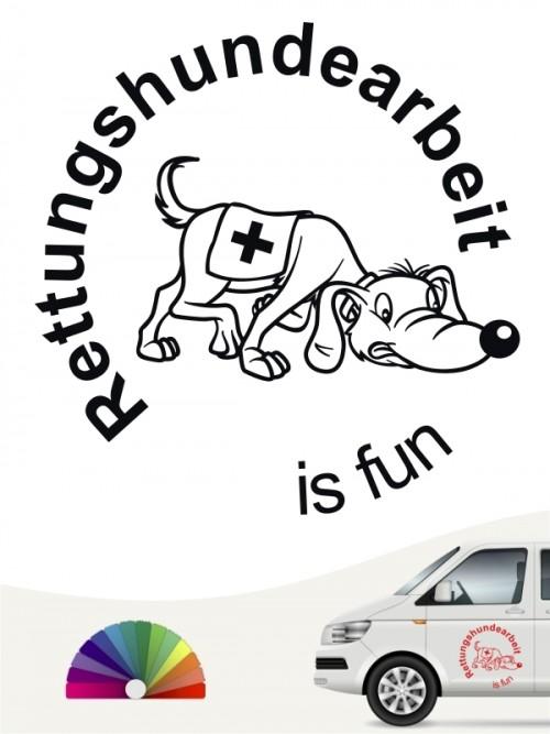 Rettungshundearbeit is fun Aufkleber von anfalas.de