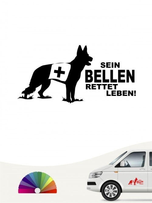 Rettungshund Team Heckscheibenaufkleber mit Wunschtext von