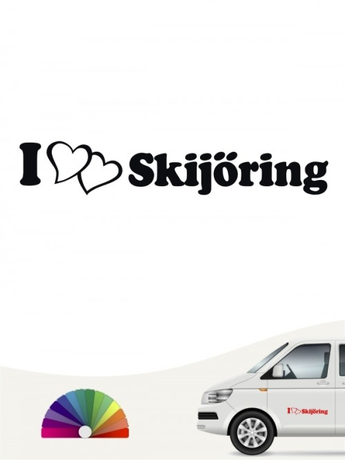 Skijöring Autoaufkleber mit Wunschtext von anfalas.de