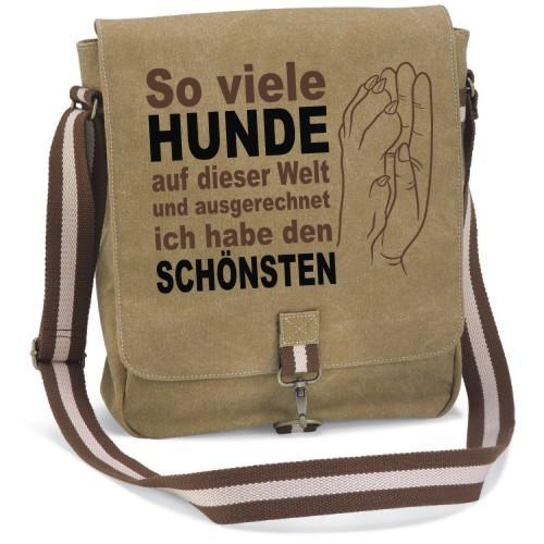 """Canvas Tasche """" So viele Hunde"""" von anfalas.de"""